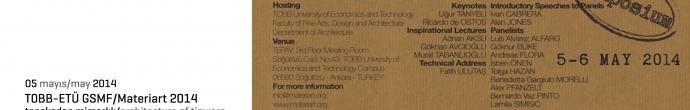 tobb etü gsmf / 9.yıl etkinlikleri / materiart 2014 sempozyumu